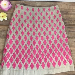 Anthropologie Bowden Embroidered A-Line Skirt